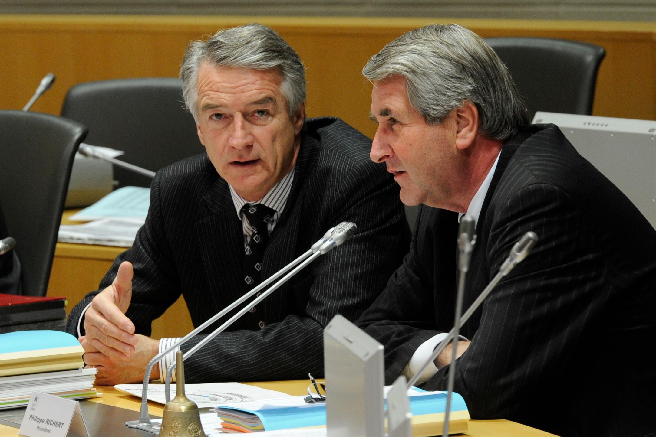 André REICHARDT et Philippe RICHERT au Conseil régional d'Alsace