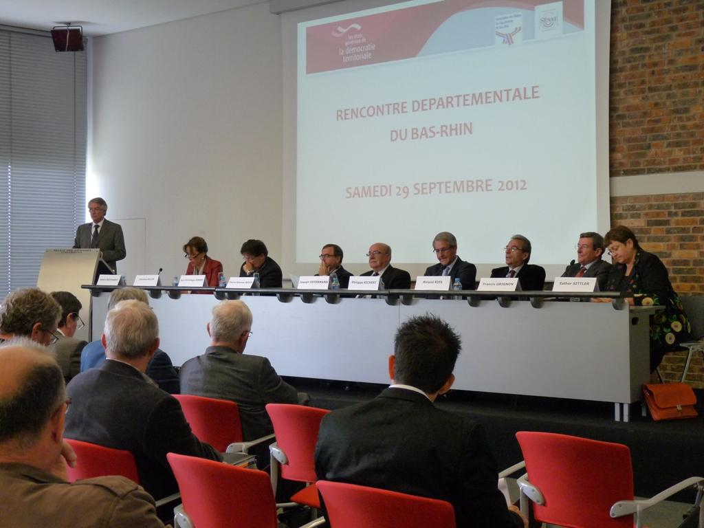 André REICHARDT aux rencontres départementales des Etats Généraux de la Démocratie Territoriale
