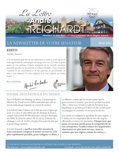 Newsletter electronique mai 2013