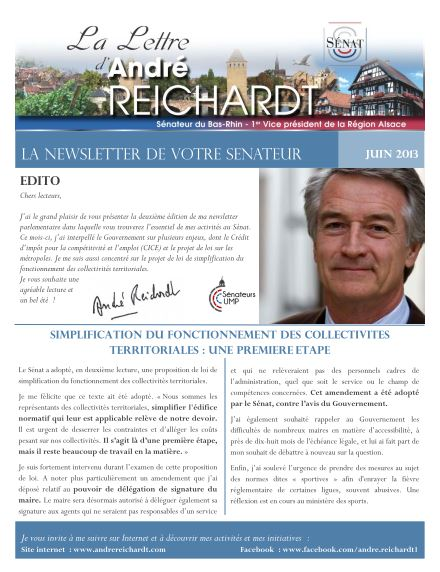 Newsletter electronique juin 2013