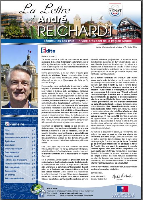 Newsletter André REICHARDT N°7