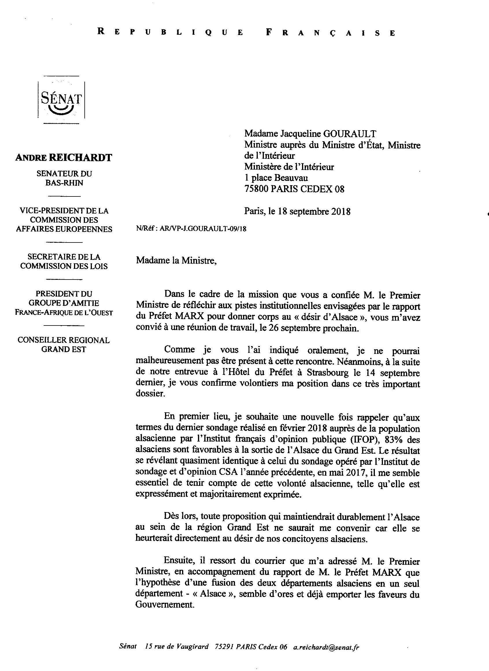Avenir Institutionnel De L Alsace Mon Intervention Aupres De Mme